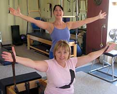 Gemmas Pilates: Student on Reformer
